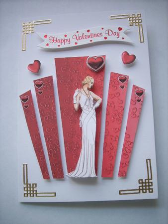 Valentine Art Deco Panels With Lady CUP173822617