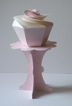 3D Cupcake Stand Holder Template SVG Cutting Files