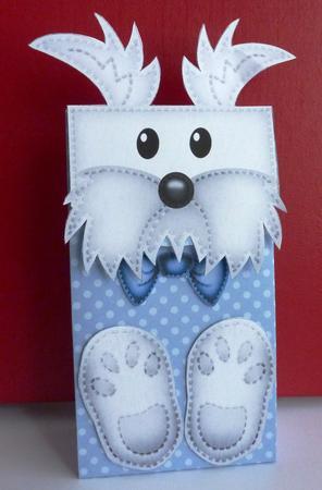 3D Jock Westie Dog Cute Character Gift Bag Mini Kit