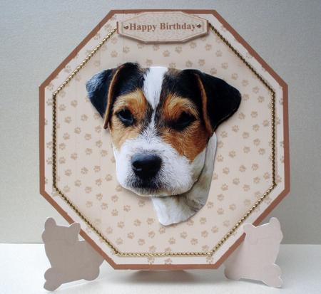 Jack Russell Terrier Plate Shaped Card Amp Stand CUP170013