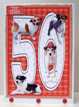 Jack Russell Terrier 50th Birthday Card CUP21405415