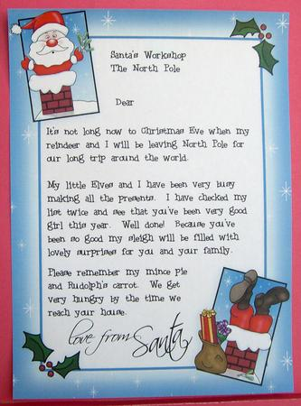 Girls Letter From Santa CUP25527359 Craftsuprint