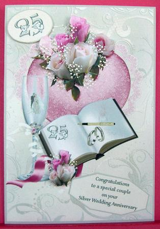 Silver Wedding Wishes CUP254304653 Craftsuprint