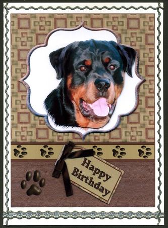 Rottweiler Doggy Birthday Wishes CUP4275871209