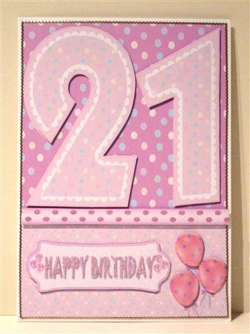 21st Birthday Girl Quick Card CUP22800438 Craftsuprint