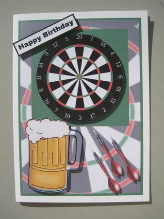 Darts And A Pint Topper CUP224076613 Craftsuprint