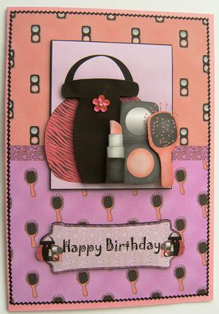 Girly Make Up Card Front Topper And Decoupage CUP183082