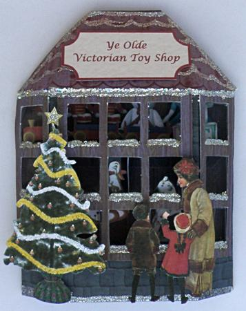 3D Victorian Toy Shop Window Card CUP162413905