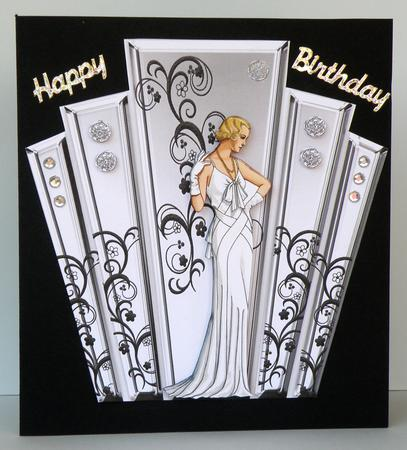 Deco Style Panels With Art Deco Lady CUP136733617