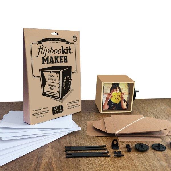 Maker kit contents FlipBooKit Flip book DIY Craft project
