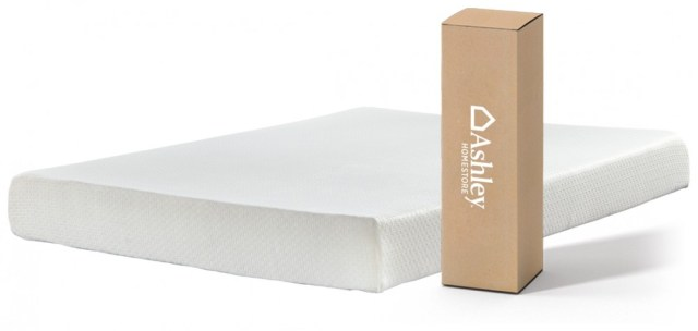 Chime 8 Inch Foam Mattress White Twin Mattress M72611 Memory Foam Mattresses Price Busters Furniture