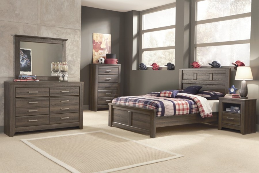 Juararo Full Bed  Dresser   Mirror   B251 21 36 84 86 87   Bedroom     Juararo Full Bed  Dresser   Mirror