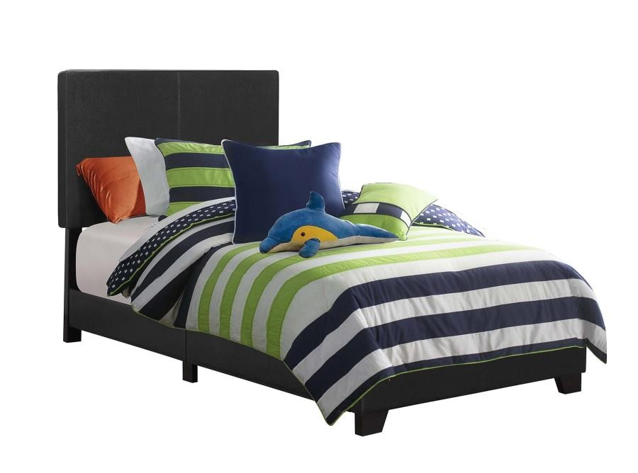 dorian upholstered bed dorian black faux leather upholstered twin bed