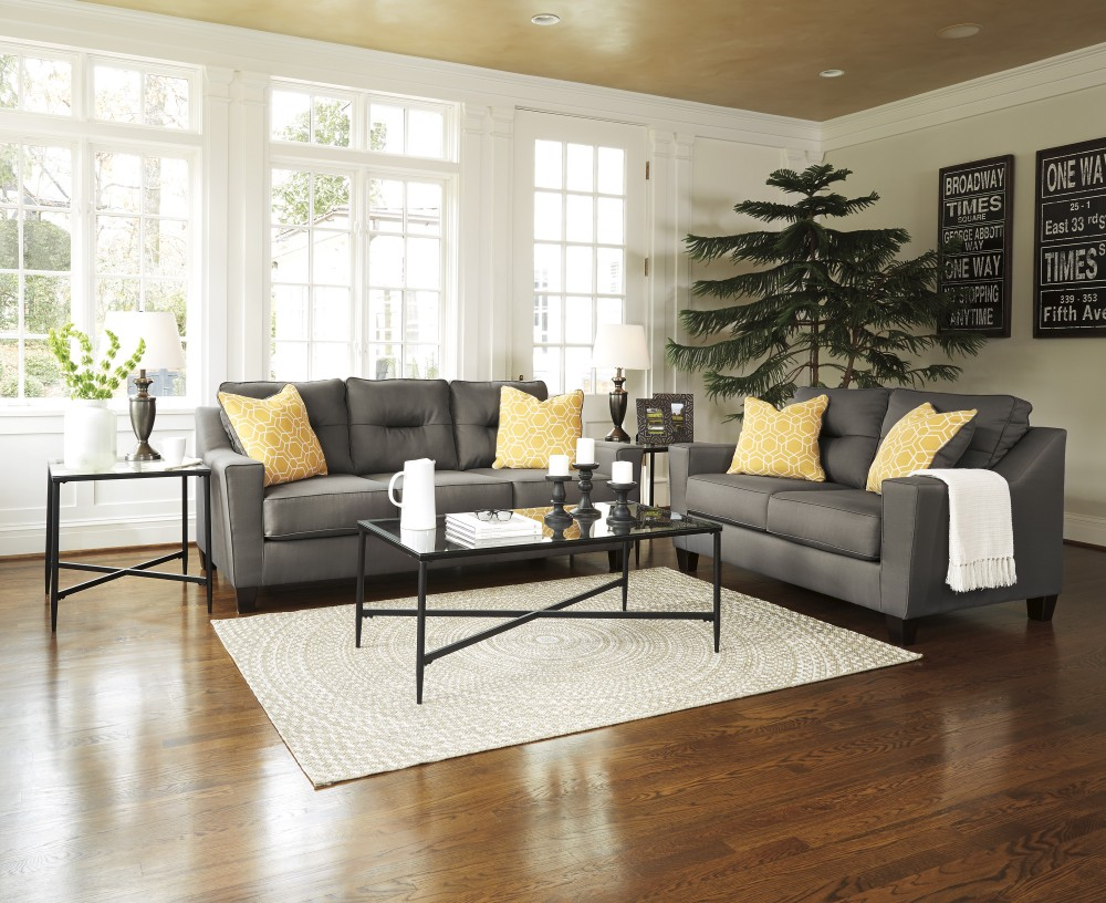 Forsan Nuvella Grey Sofa Amp Loveseat 669023538