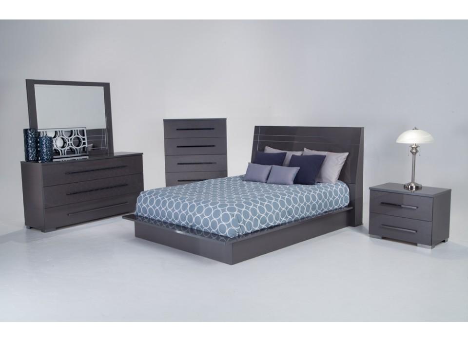 dimora platinum 5 piece bedroom group