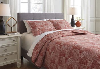 Jabesh Orange King Quilt Set Q365023K Bedding