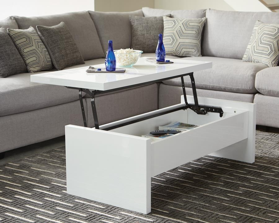 contemporary white lift top coffee
