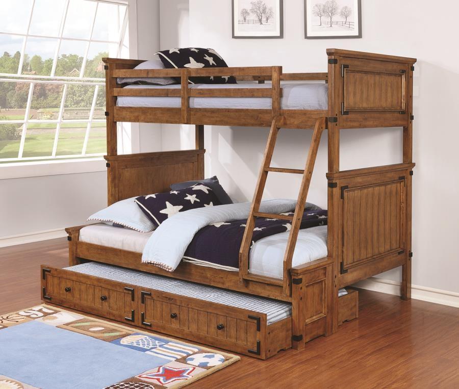 CORONADO BUNK BED Coronado Rustic Honey Twin Over Full
