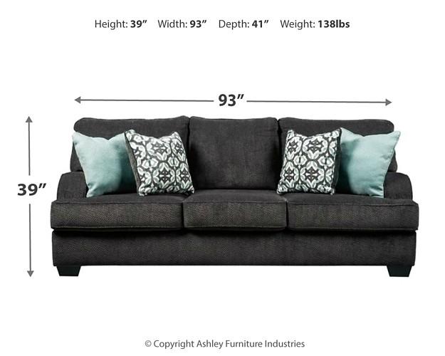 Charenton Charcoal Sofa 1410138 Sofas Price