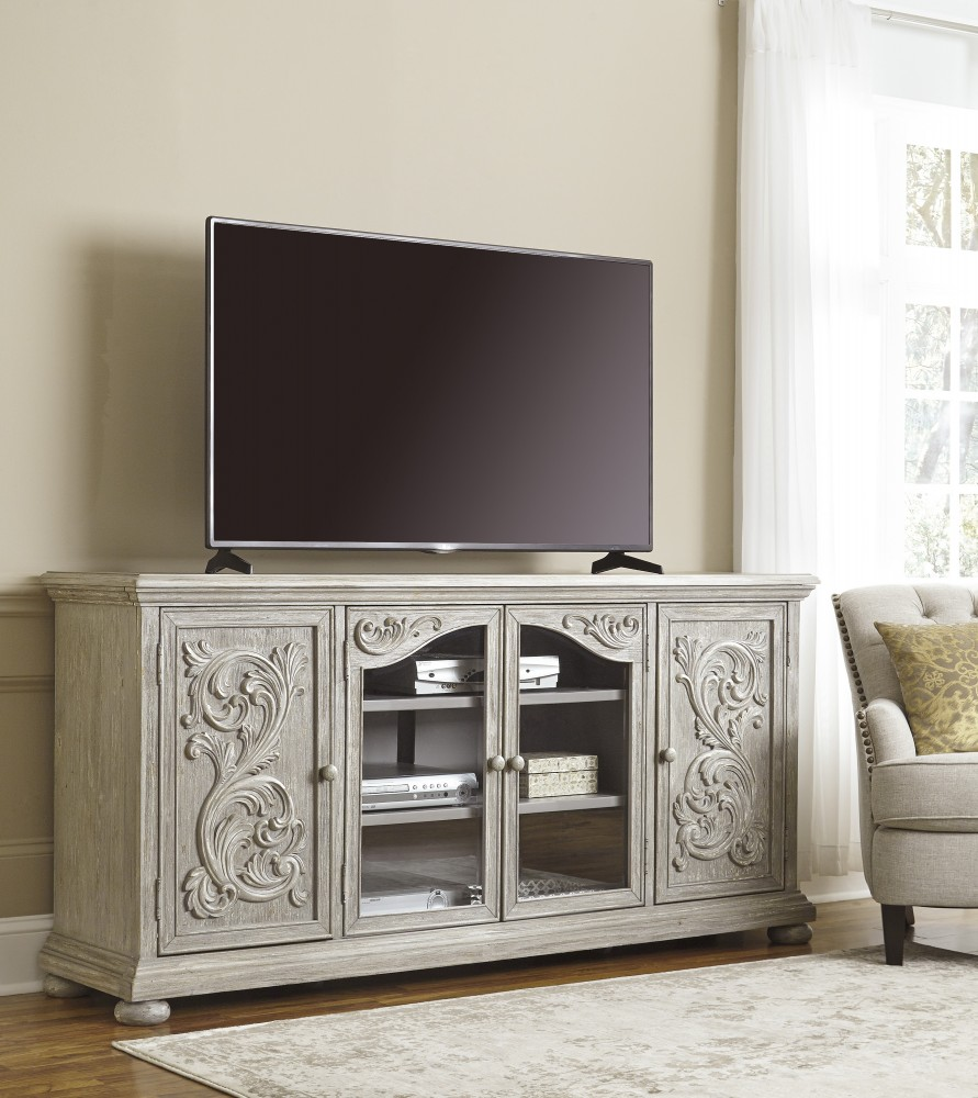 Marleny Gray Extra Large TV Stand W644 60 TV