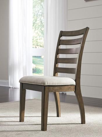 Flynnter Medium Brown Dining UPH Side Chair 2CN