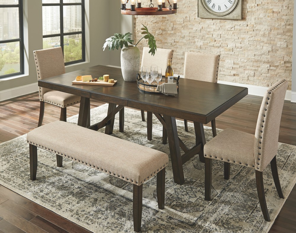 Rokane Brown RECT Dining Room EXT Table D397 35