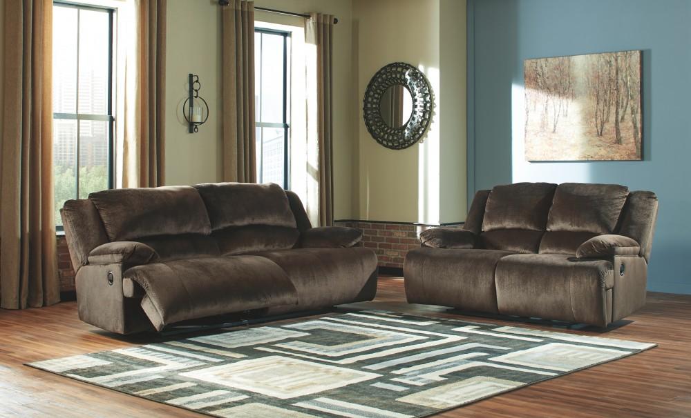 Clonmel Chocolate 2 Seat Reclining Sofa 3650481 Reclining Sofas Mega Furniture