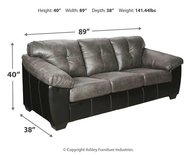 Gregale Slate Sofa 9160538 Sofas Economy Furniture