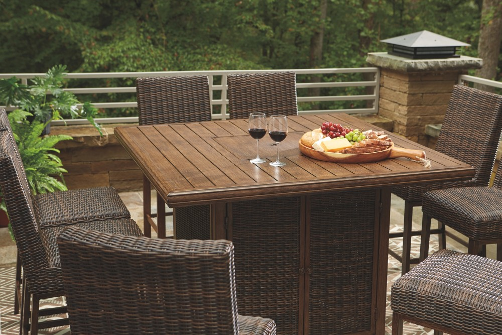 paradise trail outdoor dining table and 8 chairs