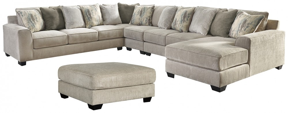 Ardsley 5 Piece Sectional With Ottoman 39504 08 S8 Living Room Sets Price Busters Furniture