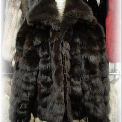 Brown Fox Bomber Fur Jacket