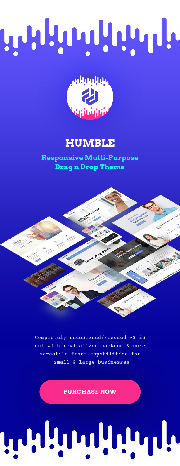Humble. Responsive Multi-Purpose Drag n Drop Theme - 1