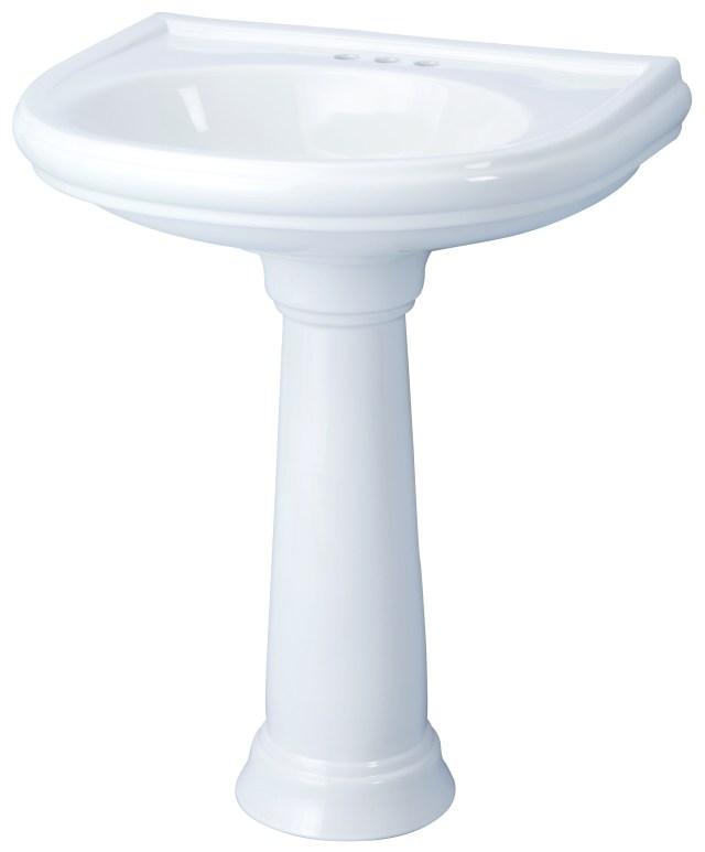 "DISCONTINUED Brianne™ 4"" Centers Petite Pedestal Bathroom Sink"