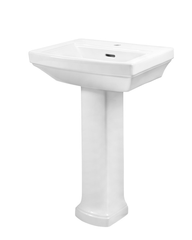 Hinsdale™ Single Hole Petite Bathroom Sink with Pedestal