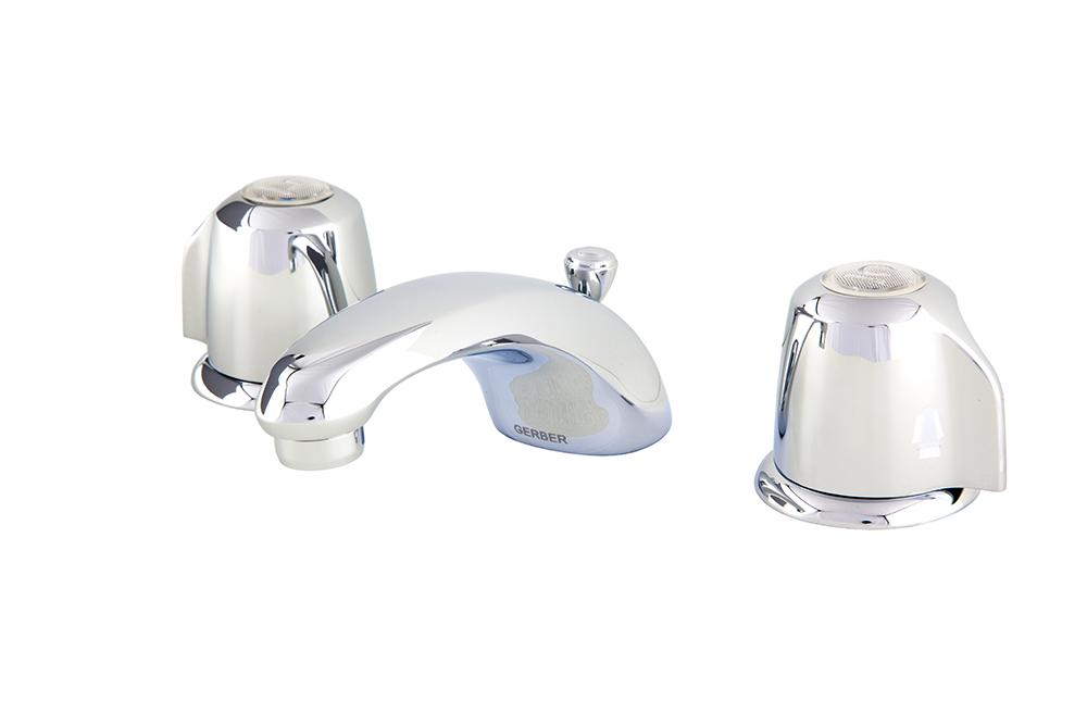 Gerber Classics Two Handle Lavatory Faucet W Metal Handles Amp Metal Pop Up Drain 12gpm