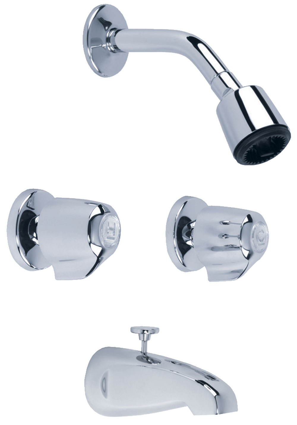 Gerber Classics 6 Inch Centers Two Handle Tub Shower