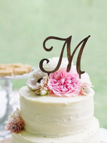 Personalized Monogram Cake Topper