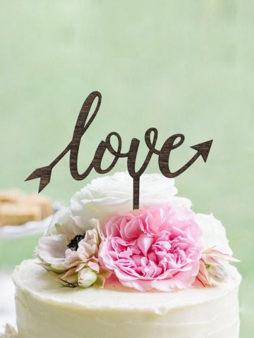 Love Arrow Cake Topper