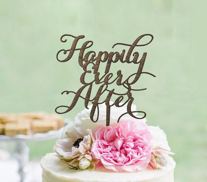 Happily Ever After Wedding Cake Topper Shop Cake Toppers Gifteve