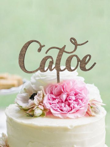 Personalized Cake Topper With Last Name