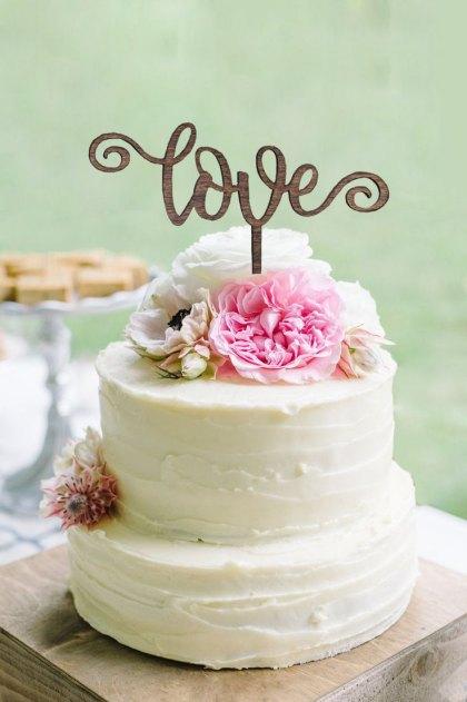 Curl Love Cake Topper