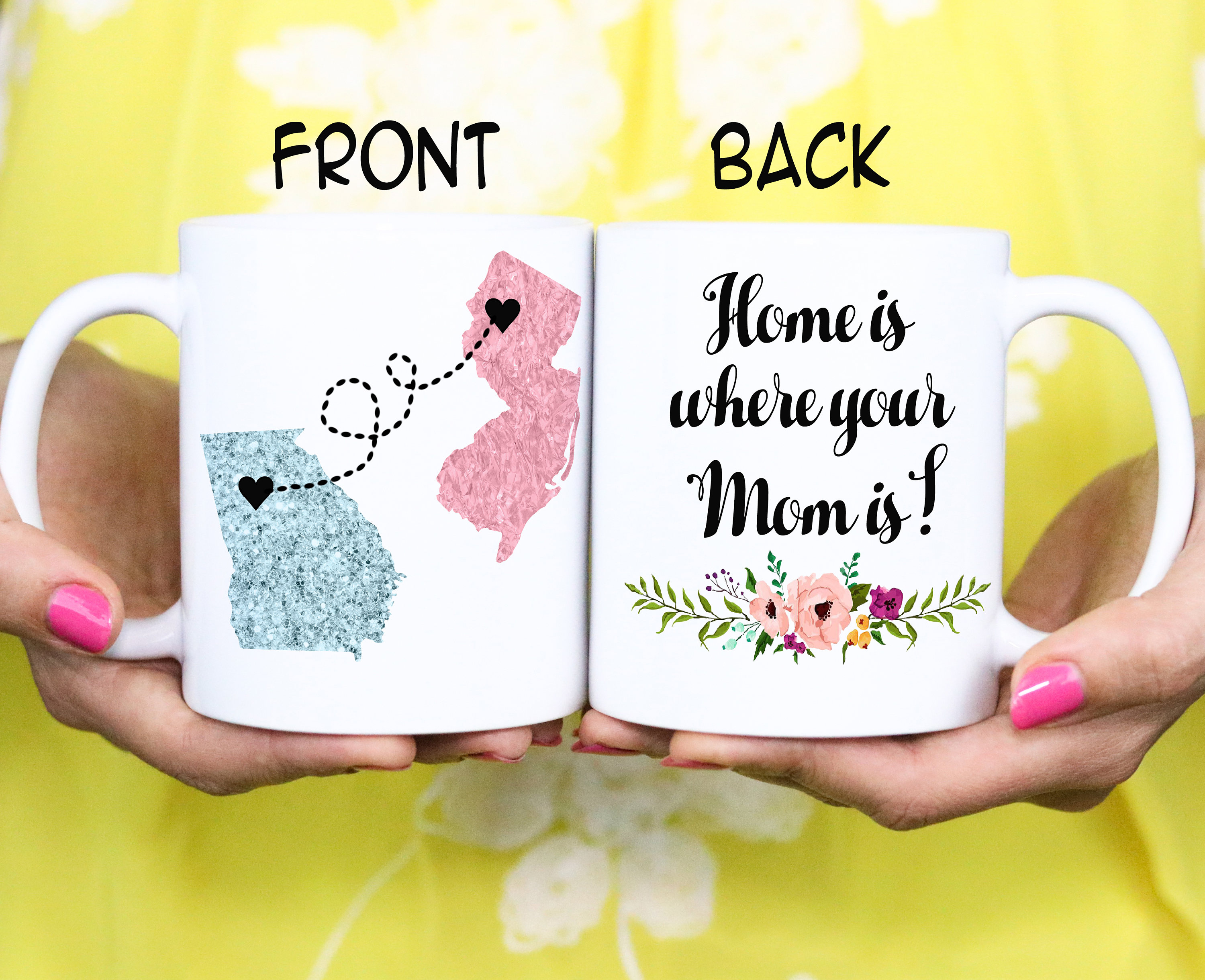 Home is where your Mom is - Personalized Mother Day Gift