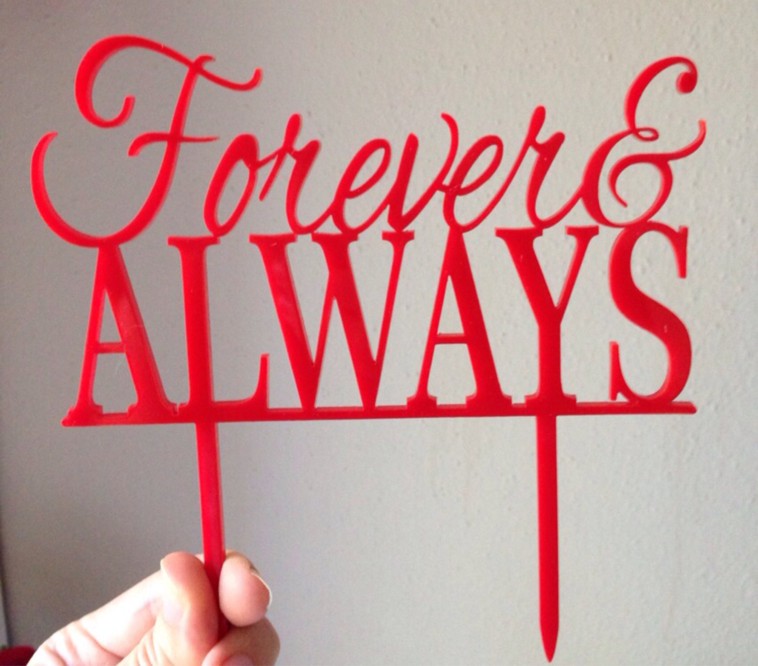 Forever and Always Cake Topper | Acrylic Topper | GiftEve