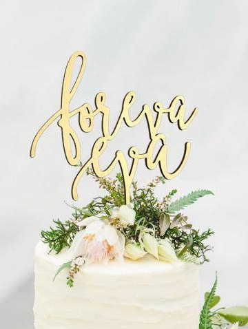 Foreva Eva Wedding Cake Topper