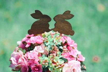 Rabbits Cake Topper