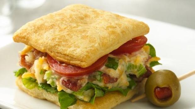 Cheesy BLT Mini Sandwiches Recipe