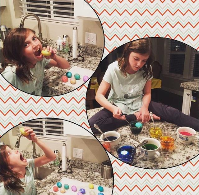 Lauren Coloring Eggs