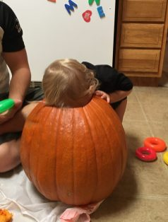 Don't fall in the pumpkin