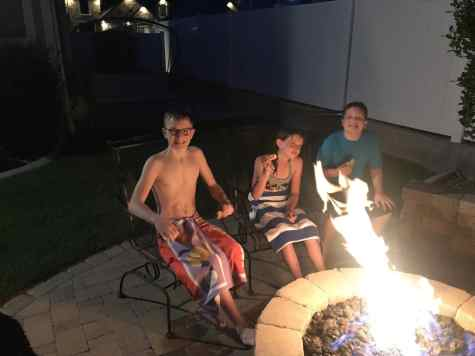 S'mores with cousins
