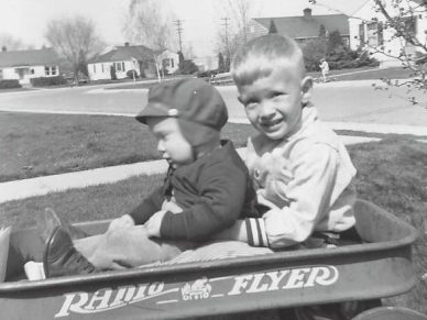 Rich with brother Roger